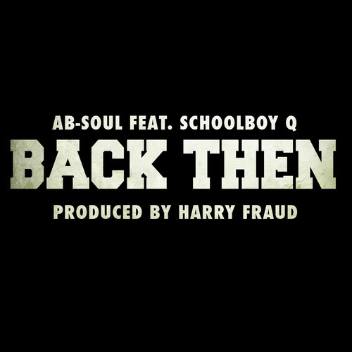 Ab Soul - Back then cover