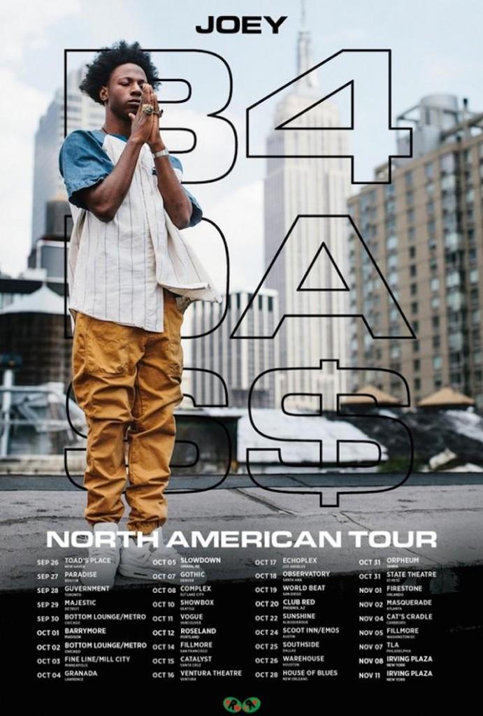 Joey Bada$$ tour poster