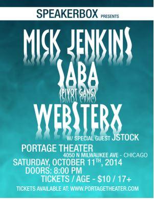 Mick Jenkins X Saba flyer